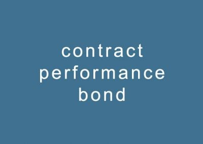 contract performance bond
