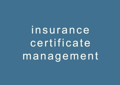 insurance certificate management